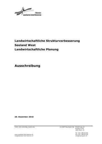 Landwirtschaftliche Strukturverbesserung Seeland ... - Suissemelio