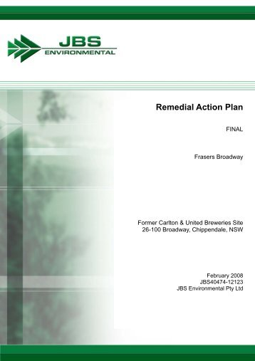 Remedial Action Plan - Main Report - Planning - NSW Government