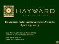 Environmental Achievement Awards April 19 ... - City of HAYWARD