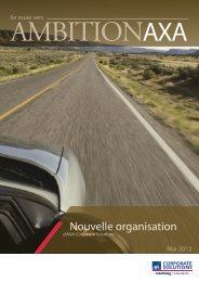 Nouvelle organisation - AXA Corporate Solutions