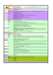 Programma sintetico del congresso - Gruppo Asperger