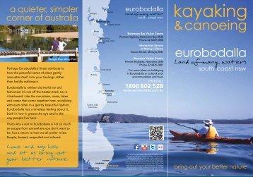 Kayaking & Canoeing in Eurobodalla 2.4 MB PDF