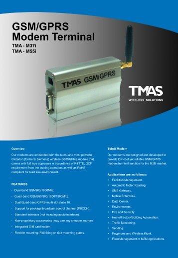 TMAS M55i DATASHEET - RF Solutions