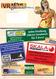 Jedes Footlong (30cm) Sandwich für 5 Euro! - VR xtra Club