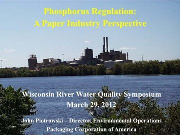 A Paper Industry Perspective - University of Wisconsin - Stevens Point