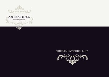 Chantal Beauty - Treatment List - The Guide 2 Surrey