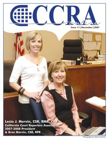 November 2007 - California Court Reporters Association