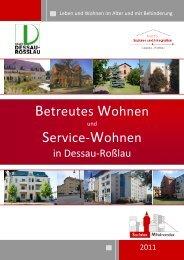 Betreutes Wohnen Broschüre - Dessau-Roßlau