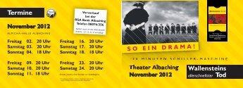 Wallensteins Termine - Albaching