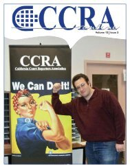 Volume 12 Issue 3 - California Court Reporters Association