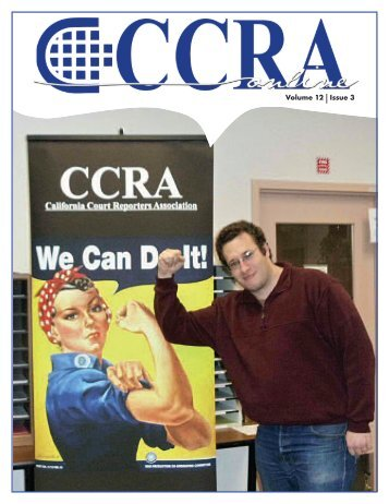 Volume 12 Issue 3 - California Court Reporters Association