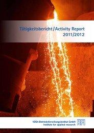 Tätigkeitsbericht /Activity Report 2011/2012 - BFI.de
