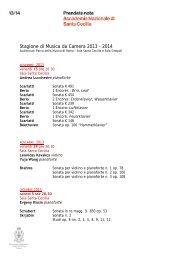 Stagione da Camera - Clicca e scarica il calendario stampabile in pdf