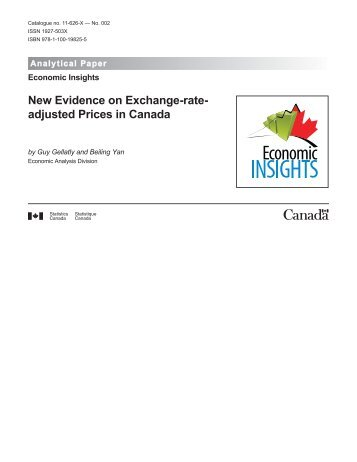New Evidence on Exchange-rate- adjusted Prices in Canada