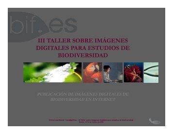 Publicación de imágenes digitales de biodiversidad en ... - Gbif.es