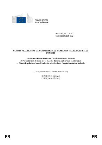 (2013) 135 final - EUR-Lex - Europa