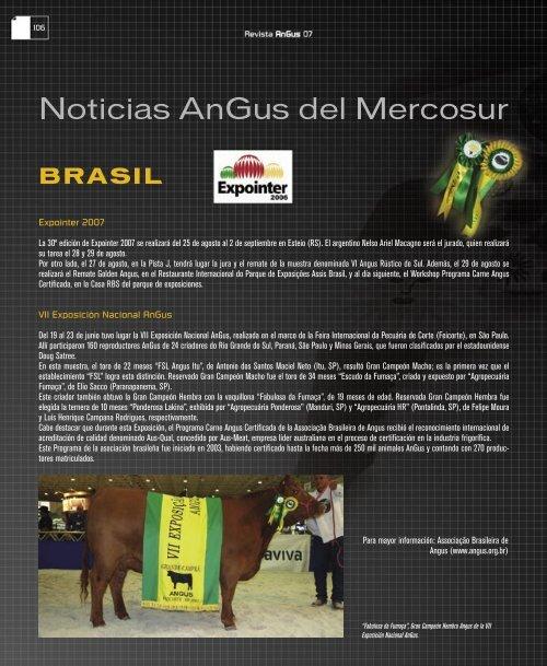 Noticias AnGus del Mercosur - Asociación Argentina de Angus