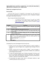 Rotinas e Procedimentos - Processos - Udesc