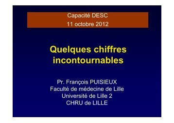 Pr Fr Puisieux Chiffres incontournables 2012 - PIRG