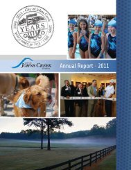 City of Johns Creek 2011 Report to the Community