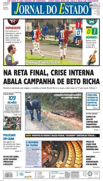 POLICIAIS EM CANA SUPERTESTE PARANÁ ... - Bem Paraná