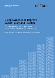 Using Evidence to Improve Social Policy and Practice