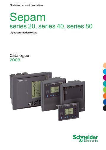 catalog protection relay sepam 40 datasheet schneider. Black Bedroom Furniture Sets. Home Design Ideas