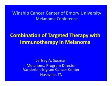 Combination of Targeted Therapy with Immunotherapy in Melanoma