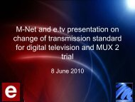 M-Net and e.tv presentation on change of ... - (M-Net) Corporate
