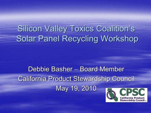 Silicon Valley Toxics Coalition's Solar Panel ... - Solar Scorecard