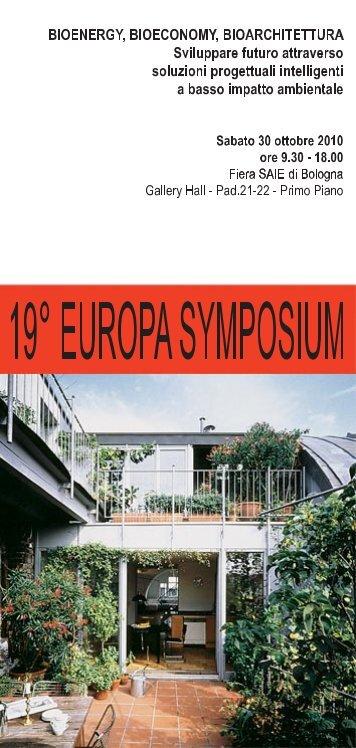 XIX Europa-Symposium - Bioarchitettura® Rivista
