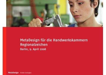 MetaDesign für die Handwerkskammern Regionalzeichen