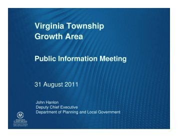 Virginia Public Meeting presentation 31 August 2011