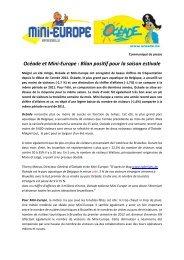 Communiqué de presse Mini-Europe et Océade - Prezly