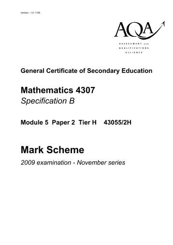 aqa gcse mathematics b modular no coursework