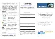 Programm und Anmeldung - Wasserland Steiermark