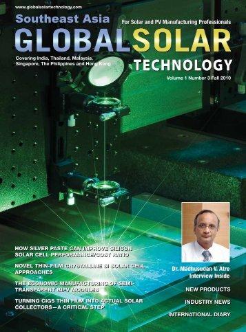 Southeast Asia Southeast Asia - Global Solar Technology