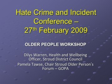 Older People Workshop (PDF 3785 KB) - Stroud District Council