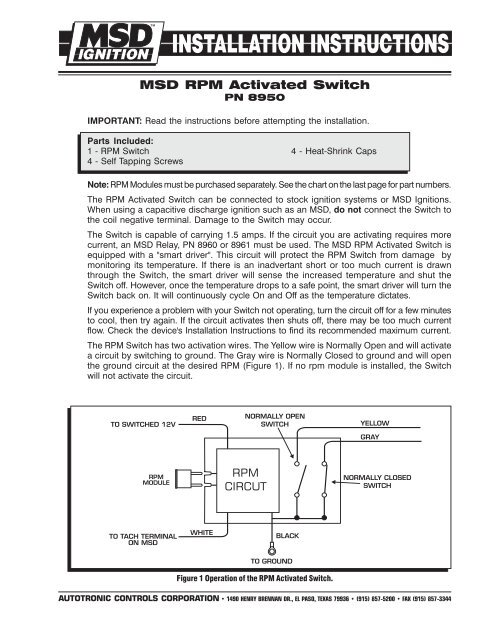 msd rpm switch wiring diagram msd rpm activated switch mps racing  msd rpm activated switch mps racing