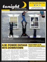 A.M. POWER OUTAGE HITS DOWNTOWN - tonight Newspaper