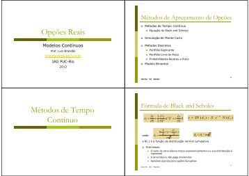 Modelos Contínuos - IAG - A Escola de Negócios da PUC-Rio