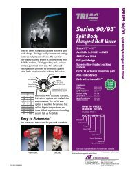 SERIES 90/93 Split Body Flanged Ball Valve - AT Controls