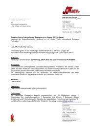 Ausschreibungsbedingungen - Jugendfeuerwehr Hamburg
