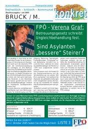 BRUCK / M. - FPÖ Steiermark