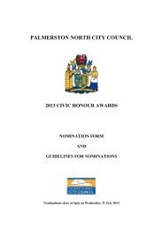 Nomination Form 2013 - Pdf (185Kb) - Palmerston North City Council