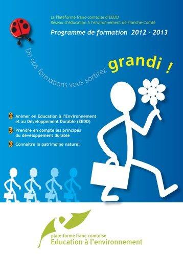 catalogue-formations.. - La maison de l'environnement de Franche ...