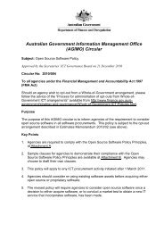 Open Source Software Policy - Australian Government Information ...