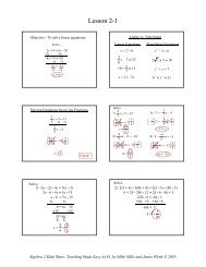 2-1 Solving Linear Equations and Inequalities - Math Slide Show