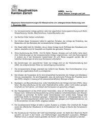 Allgemeine Nebenbestimmungen für Wasserrechte von ...