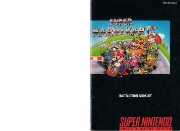 Super Mario Kart - Nintendo SNES - Manual - gamesdbase.com